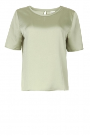 Knit-ted |  Basic top Bibianna | green  | Picture 1