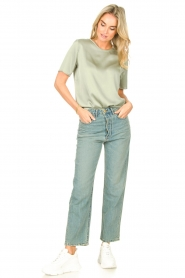 Knit-ted |  Basic top Bibianna | green  | Picture 4
