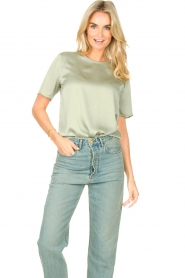 Knit-ted |  Basic top Bibianna | green  | Picture 5