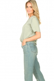 Knit-ted |  Basic top Bibianna | green  | Picture 6