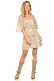 Dante 6 |  Leopard print dress Sadee | beige  | Picture 3