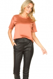Knit-ted | Basic top Bibianna | roze  | Afbeelding 4