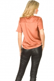 Knit-ted | Basic top Bibianna | roze  | Afbeelding 6
