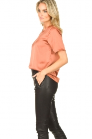Knit-ted | Basic top Bibianna | roze  | Afbeelding 5