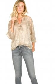Dante 6    Leopard print blouse Lorelie   beige    Picture 4