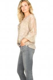 Dante 6    Leopard print blouse Lorelie   beige    Picture 5