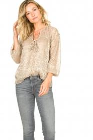 Dante 6    Leopard print blouse Lorelie   beige    Picture 2