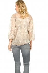 Dante 6    Leopard print blouse Lorelie   beige    Picture 6