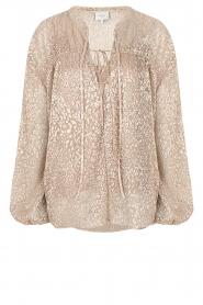 Dante 6 |  Leopard print blouse Lorelie | beige  | Picture 1