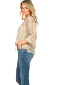 Dante 6 |  Leopard print blouse Lorelie | beige  | Picture 6