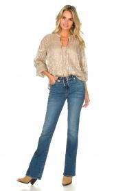 Dante 6 |  Leopard print blouse Lorelie | beige  | Picture 3