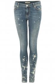 NIKKIE | Gebleekte skinny jeans Brooke lengtemaat 32 | blauw   | Afbeelding 1