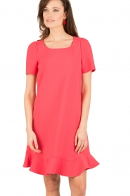 Tara Jarmon |  Dress Corail | coral red  | Picture 2