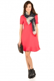 Tara Jarmon |  Dress Corail | coral red  | Picture 3