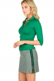 Par 69 |  Golf skirt with Escher print Bellugia | green  | Picture 4