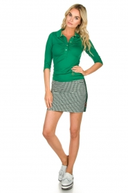 Par 69 |  Golf skirt with Escher print Bellugia | green  | Picture 3