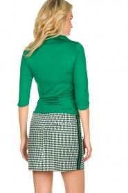 Par 69 |  Golf skirt with Escher print Bellugia | green  | Picture 5
