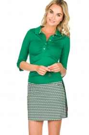 Par 69 |  Golf skirt with Escher print Bellugia | green  | Picture 2
