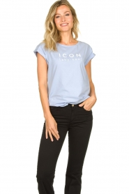 Dante 6 |  T-shirt with text print Icon | blue  | Picture 4