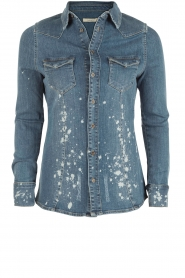 Bleached denim blouse Brooke | blue