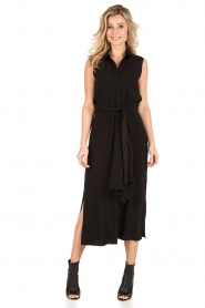 Tara Jarmon |  Midi dress Delphine | black  | Picture 2