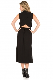 Tara Jarmon |  Midi dress Delphine | black  | Picture 4