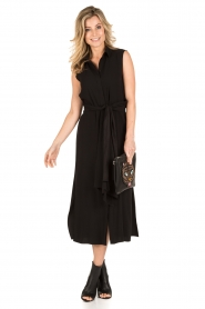 Tara Jarmon |  Midi dress Delphine | black  | Picture 5