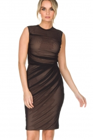 By Malene Birger | Semi-sheer jurk Gilda | zwart  | Afbeelding 2