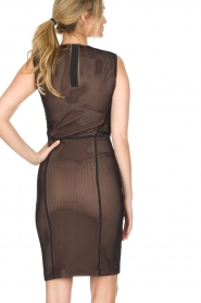 By Malene Birger | Semi-sheer jurk Gilda | zwart  | Afbeelding 5
