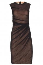 By Malene Birger | Semi-sheer jurk Gilda | zwart  | Afbeelding 1