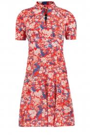 Tara Jarmon | Zijden jurk Birdy | rood  | Afbeelding 1