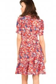 Tara Jarmon | Zijden jurk Birdy | rood  | Afbeelding 5