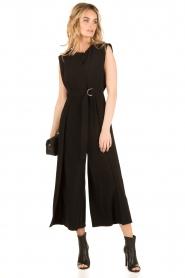 Tara Jarmon | Flared jumpsuit Mila | zwart  | Afbeelding 2