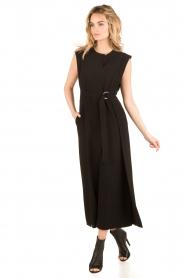 Tara Jarmon | Flared jumpsuit Mila | zwart  | Afbeelding 3