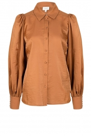 Dante 6 |  Balloon sleeve blouse Mauri | brown  | Picture 1