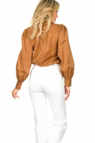 Dante 6 |  Balloon sleeve blouse Mauri | brown  | Picture 7