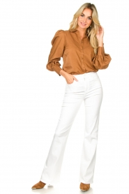Dante 6 |  Balloon sleeve blouse Mauri | brown  | Picture 3