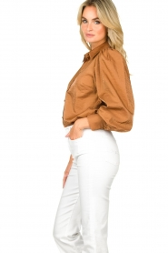 Dante 6 |  Balloon sleeve blouse Mauri | brown  | Picture 6