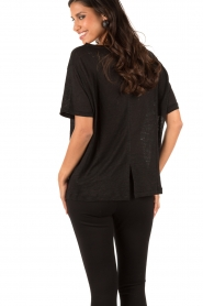 Linen T-shirt Ivonna | black