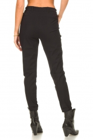 D-ETOILES CASIOPE |  Travelwear pants with tie belt Antigua | black  | Picture 6