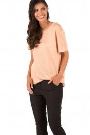 By Malene Birger | Linnen T-shirt Ivonna | roze   | Afbeelding 2