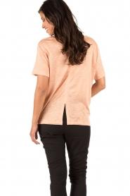 By Malene Birger | Linnen T-shirt Ivonna | roze   | Afbeelding 5