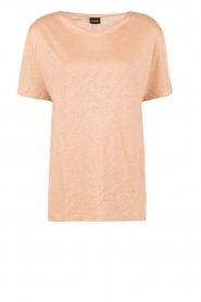 By Malene Birger | Linnen T-shirt Ivonna | roze   | Afbeelding 1