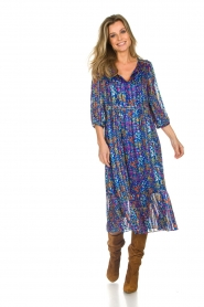ba&sh |  Dress with floral print Reese |  blue  | Picture 4