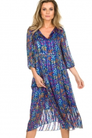 ba&sh |  Dress with floral print Reese |  blue  | Picture 2