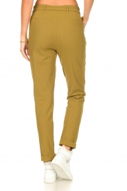 D-ETOILES CASIOPE |  Travelwear pants with tie belt Antigua | green  | Picture 6