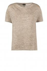 By Malene Birger | Linnen T-shirt Ivonna | grijs  | Afbeelding 1