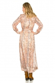 Dante 6 | Maxi-jurk met zebrapirnt Loras | naturel  | Afbeelding 5