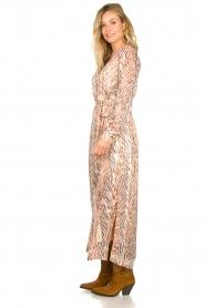 Dante 6 | Maxi-jurk met zebrapirnt Loras | naturel  | Afbeelding 4
