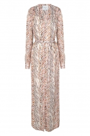 Dante 6 | Maxi-jurk met zebrapirnt Loras | naturel  | Afbeelding 1